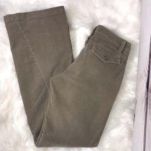 Athleta Corduroy Tan Dipper Trouser Pants 4